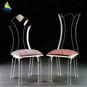China Bedroom Custom Acrylic Furniture Eco - Friendly Clear Transparent Acrylic Chair supplier