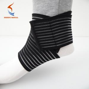 China health & medical CE certification ankle support brace SH-902 breathable black on sale