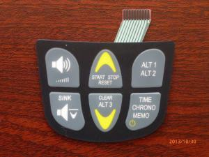 China PCB Embossed Membrane Keyboard Switch , Transparent Tactile Membrane Switch on sale