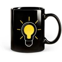 SGS/ROHS/CE certifiction the change colors ceramic mug china the lamp bulb magic cup power mug