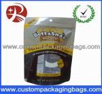 La aduana plástica amarilla imprimió se levanta las bolsas de la cremallera para las galletas