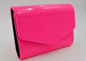 China Elegant luxury Cosmetic Custom Purse Carton Pink Acrylic Clutch Envelope Bag on sale