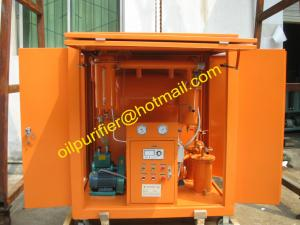 China Portable Cable Oil Purifying Unit, Oil Filtering Unit, Oil Cleaning Unit for Degasing , Dewatering, Impurities Removing on sale