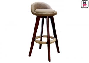 China olid Wood Restaurant Bar Stools Soft Leather / Fabric Seater W50 * D37 * SH73cm S on sale