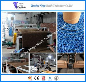 China PVC Coil Mat Machine Plastic PVC Coil Cushion Carpet Extrusion Machine on sale