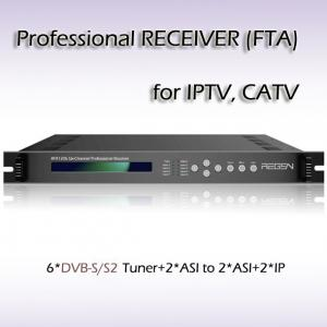 China RFR1206_DVB-S/S2 Six-Channel Professional IPTV Receiver DVB-S/S2 TO ASI/IP Streaming DVB TO IP Gateway on sale