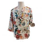 Stain Printed M Loose Fit Ladies Casual Blouse