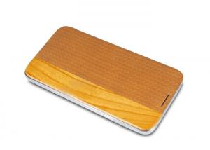 China Elegant Luxurious Mobile Phone Wooden Case With PC Shell , Real or PU Leather Folio Cases on sale