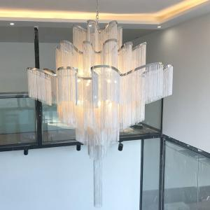 China Draped chain chandelier Slive Gold Color For Porject Lighting (WH-CC-11) on sale