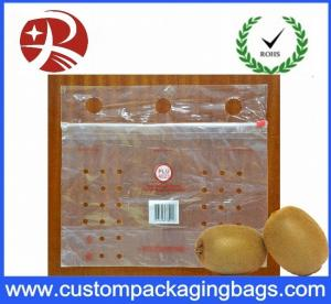China Customized Clear PE slider Fresh Fruit Packaging Bags With Hole on sale