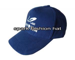 Quality gorra de béisbol de 5 del panel azules marinos de la impresión con el cierre del velcro for sale