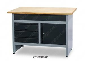 China Prefab Industrial Garage Steel Workbench 4 Pcs Leveling Feet Flat Packing on sale