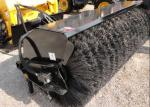 Plastic And PP Steel Wire Roller Snow Sweeper Brush / Road Cleaning Brush