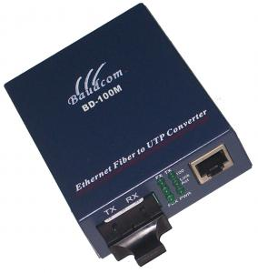 China 10/100M fiber media converter dual fiber single core up to 120km on sale