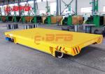 Large Table Battery Powered Carts Industrial Transfer, Flexible Motorized Transfer Trolley On Rail Roads