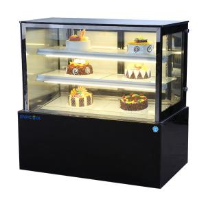 China 4ft Commercial Cake Display Fridge With Back Sliding Glass Door 1200*660*1200mm on sale