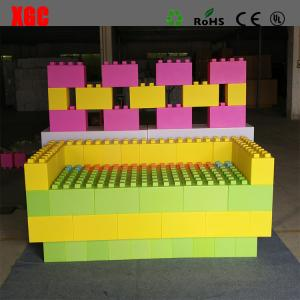 China Rotational Moulding PE Building Block Set Plastic Lego Blocks 20x20x40 cm on sale