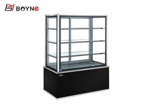 China Floor Standing Straight Bread Display Counter 4 Layer Marble Base High Efficiency on sale