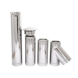 China Roof Flashing Double Wall Stainless Steel Stove Pipe , Double Lined Flue Pipe System on sale