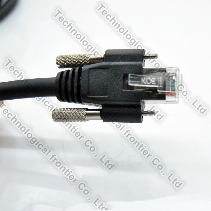 ThumbScrew Lock CCD Basler Camera GigE Vision High Flex CAT6 RJ45 Ethernet Cable
