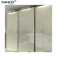 2019 New Fashion White Lacquered Glass Wardrobe Sliding Door For Furniture Deco