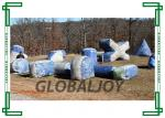 China Outdoor Inflatable Paintball Bunkers / Silk Printing Air Bunkers Balls Games wholesale