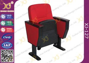 China Heavy Duty Stacking Church Hall Chairs With Back Bag And Tablet on sale