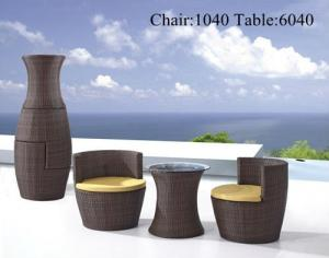 China Wicker Outdoor Furniture Of Leisure Table Set Etc 1040-6040# on sale