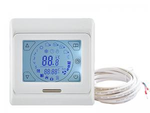 China Digital White Wireless Central Heating Thermostat AC230V CE And ROHS on sale
