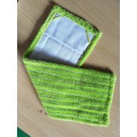 Microfiber 14*48 Green Twisted Fold Oxford Fabric Pocket Wet Mop Head Pads