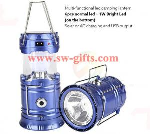 China Plastic Multi-function Solar Camping Lantern Rechargeable,Portable Solar Rechargeable led Camping Lantern Flashlights on sale