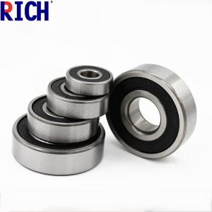 China Brass Cage Dust Cover Ball Bearing 6200 , Low Noise Diesel Engine Bearings on sale