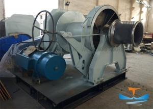 China 30T One Drum Marine Electric Winch 38mm Mooring Winch With One Warping Head on sale