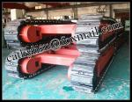 custom built 10-15 ton steel track undercarriage with rubber pads