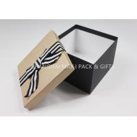 Tiny To Huge Xmas Gift Boxes Black And White For Gifts 7× 7× 4  Textured Art Paper Pasted