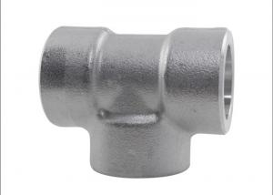 China ASTM A182 Socket Weld Reducing Tee , SS 304 1  X 1 / 2  Class 6000 Stainless Steel Reducing Tee on sale