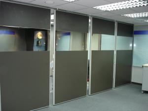 China Accordion Commercial Aluminium Profile for Movable Conference Room Movable Partition Walls on sale