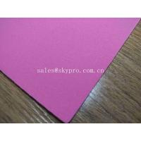 1mm Thick High Elastic Pink SBR Thin Neoprene Fabric EVA with Polyester Jersey Coating Rubber Sheet