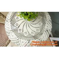 Hand Crochet table clothing - table cover - white, wedding and banquet, blanket, clothes