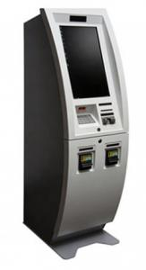 China 22 Inch Free Standing Banking Kiosk , Touch Screen Bitcoin ATM Kiosk on sale