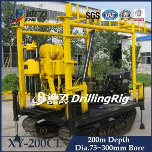 China XY-200T  hydraulic rotary water well drilling rig machine 200m depth on sale