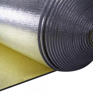 China Double Faced Construction Heat Insulation Foam Aluminum Foil Pe For Roof Thermo Insulation on sale