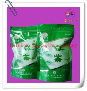 China k Bottom Gusset Plastic Bag Packaging , Green Tea Packaging Bag on sale