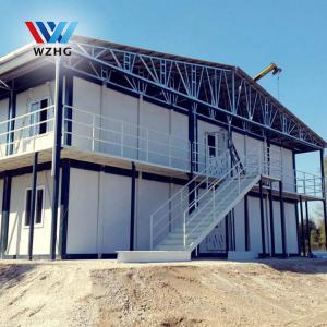 China Sandwich Panel Material and Hotel Use Prefab Container Home caming house on sale