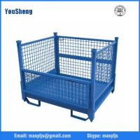Industrial stackable collapsible heavy duty rolling wire mesh container warehousing