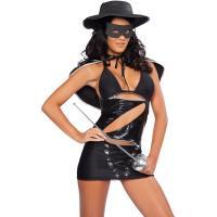 Hero Costumes Wholesale Black Sapndex PVC Masked Bandita Costume with size S to XXL