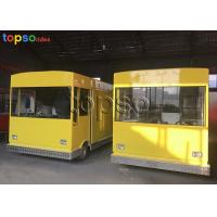 China Customized Mobile Food Trailer Theme Park Food Truck Vendors 3 Layers Flooring on sale