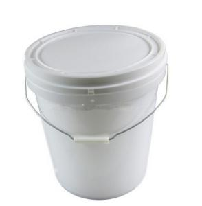 China 5.5 gallon clear Plastic pail Bucket with Handle and Lid on sale