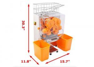 China Pro Auto Feed Automatic Orange Juicer Machine Citrus Juice Machine Transparent Plastic on sale