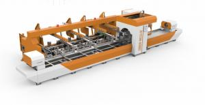 China Automatic Feeding Steel Pipe Laser Cutting Machine For Various Shape Ture on sale
